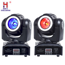 Led RGBW 60W Beam Moving Head Light With Halo Strobe Effect Stage Effect Lighitng For Dj Party Show 2pcs/lot(China)