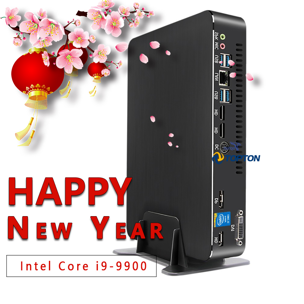 High-end Mini Game PC Intel Core I9 9900 GTX 1650 4GB Discrete Graphics Processor M.2 NVMe HDMI2.0 AC WIFI Quality From Germany