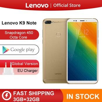 הגלובלי גרסת Lenovo K9 הערה 3GB 32GB 6 אינץ Smartphone Snapdragon אוקטה Core פנים מזהה אנדרואיד 8.1 16MP מצלמה 3760mAh סוללה-בטלפונים ניידים מתוך טלפונים סלולריים ותקשורת באתר