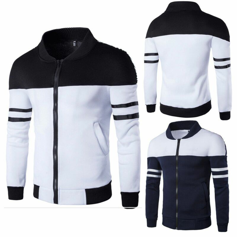 Streetwear Men's Outwear Hoodie Warm Coat Jacket Hooded Sweatshirt Tops Sports
