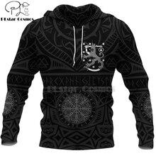 PLstar космос викинг воин татуировки новая мода спортивный костюм свободного покроя 3D печать молнии/толстовка с капюшоном/толстовка/куртка/мужской стиль Женщины-64