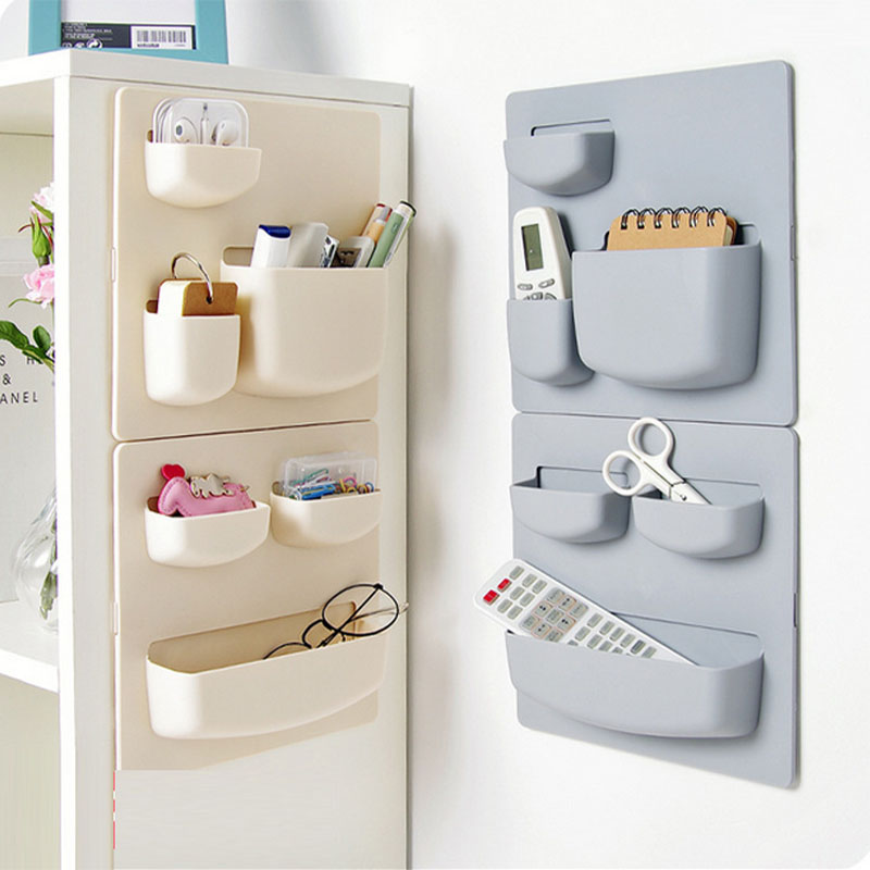 1pcs Plastic Self-adhesive Kitchen Refrigerator Fridge Storage Rack Organizer Cleaning Sponge Vegetable Fruit Home Kitchen Tools