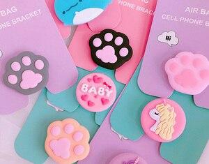 Image 3 - חדש נייד טלפון סוגר חמוד הלו קיטי אוויר תיק טלפון Stand אצבע מחזיק סאקורה לונה חתול טלפון טבעת טלפון גריפ שקע