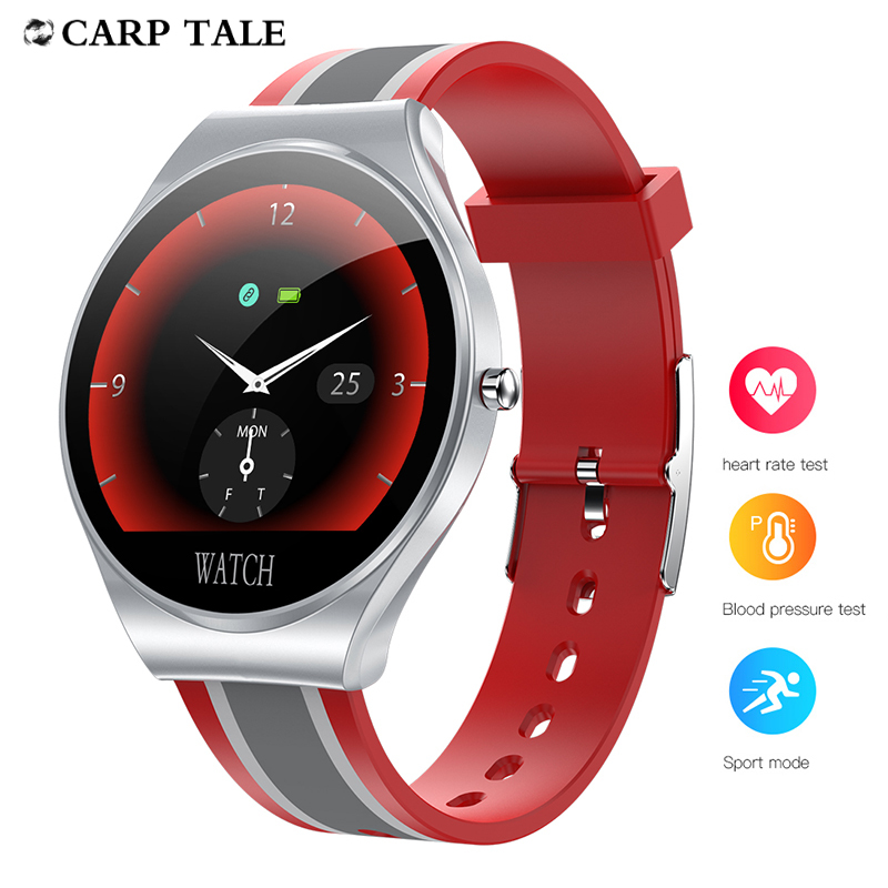 Striped silicone smart electronic watch 2020 women's wristwatch Heart Rate Tracker men watches For IOS Android Smartwatch