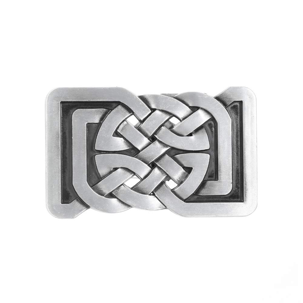 Rectangle Tang Knot Belt  Buckle For Woman Western Cowboy Buckle Without Belt Custom Alloy Width 4cm