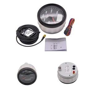 Image 1 - 120kmh/200Kmh Odometer 85mm Boat GPS Speedometer Truck Car Speedometer IP67 Waterproof GPS Gauge Meter Speed Odometers LCD Gauge