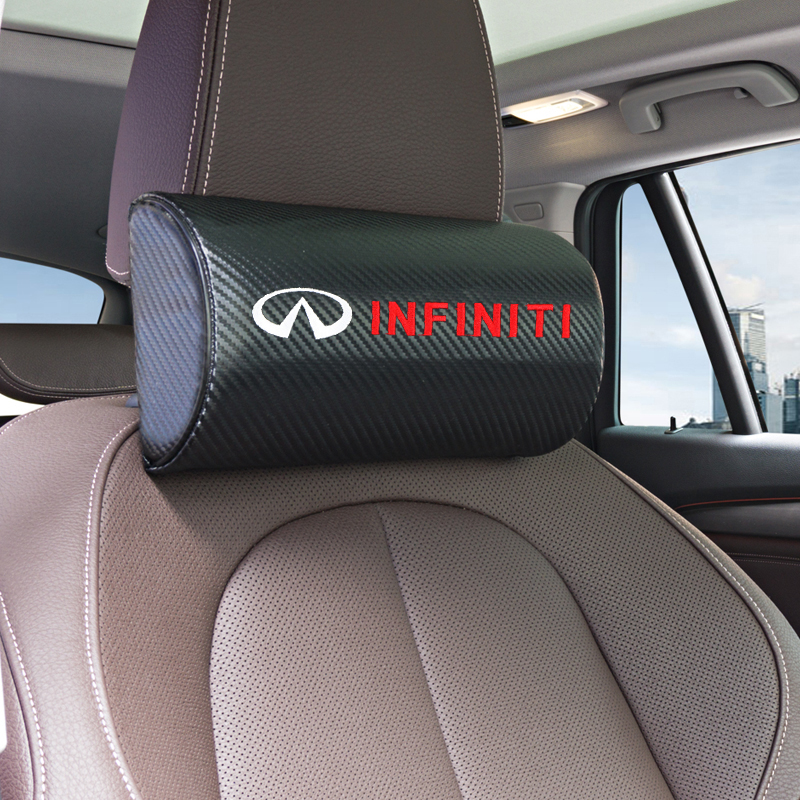 1pcs Car Neck Pillows Both Side Pu Leather Single Headrest Case For Infiniti FX35 Q50 Q30 ESQ QX50 QX60 QX70 EX JX35 G35 G37 EX3