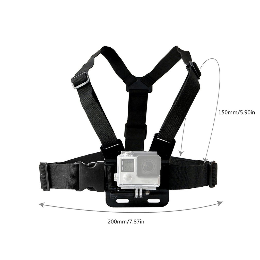 Купить с кэшбэком Camera strap Chest Strap Belt Body Tripod Harness Mount For Go Pro SJCAM SJ4000 Camera accessories