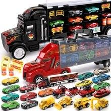 Hotwheels грузовик игрушка коробка для хранения автомобильный контейнер масштабируемый паркинг пол горячие колеса Транспорт Грузовик игрушки подарок на Рождество CKC09