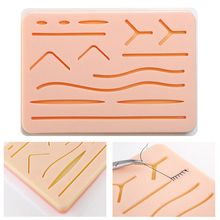 1pcs Practice Suture Pad Medical Silicone Skins Pad Suture Incision Surgical Training Kit Traumatic Pistol Simulation Training nursing training manikin medical simulation models medical training manikins abdominal cavity puncture model gasen csm0003a
