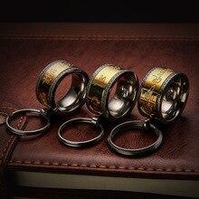 Честный натуральный продукт титановая сталь металлический ключ для авто кольцо мантра футболка креативного дизайна класса кулон для мужчин и женщин ключ от имени