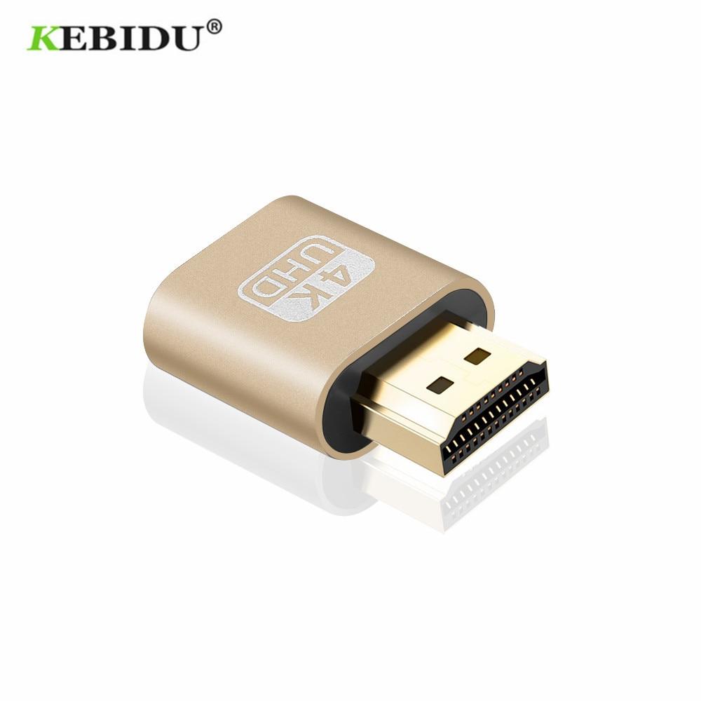 Kebidu hdmi exibição virtual 4k hdmi ddc edid manequim plug edid fantasma falso bloqueio 1920x1080