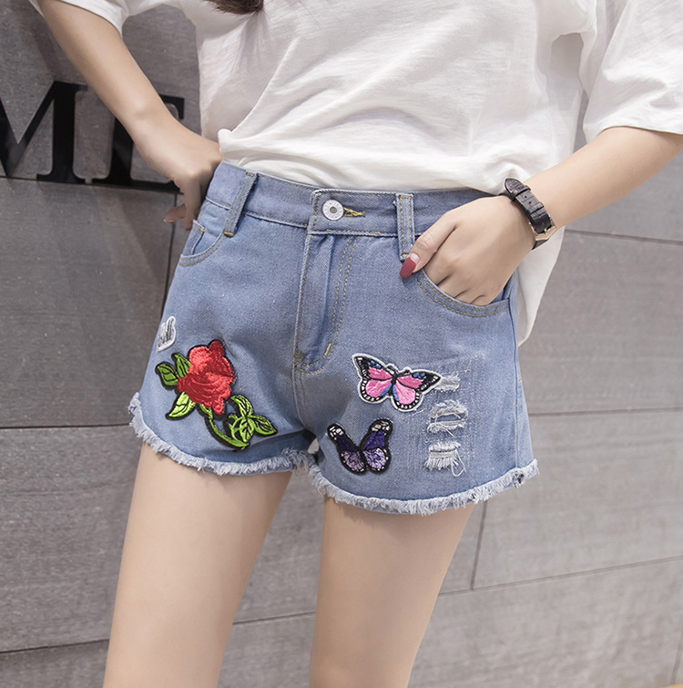 2019 Special Offer Summer New Style Jeans Women's With Holes Craft Hot Pants Elasticity Flash Tassels Slimming Wide-Leg