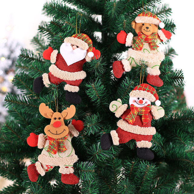 New Year 2020 Cute Santa Claus/Snowman/Angel Christmas Dolls Noel Christmas Tree Decoration for Home Xmas Navidad 2019 Kids Gift 16