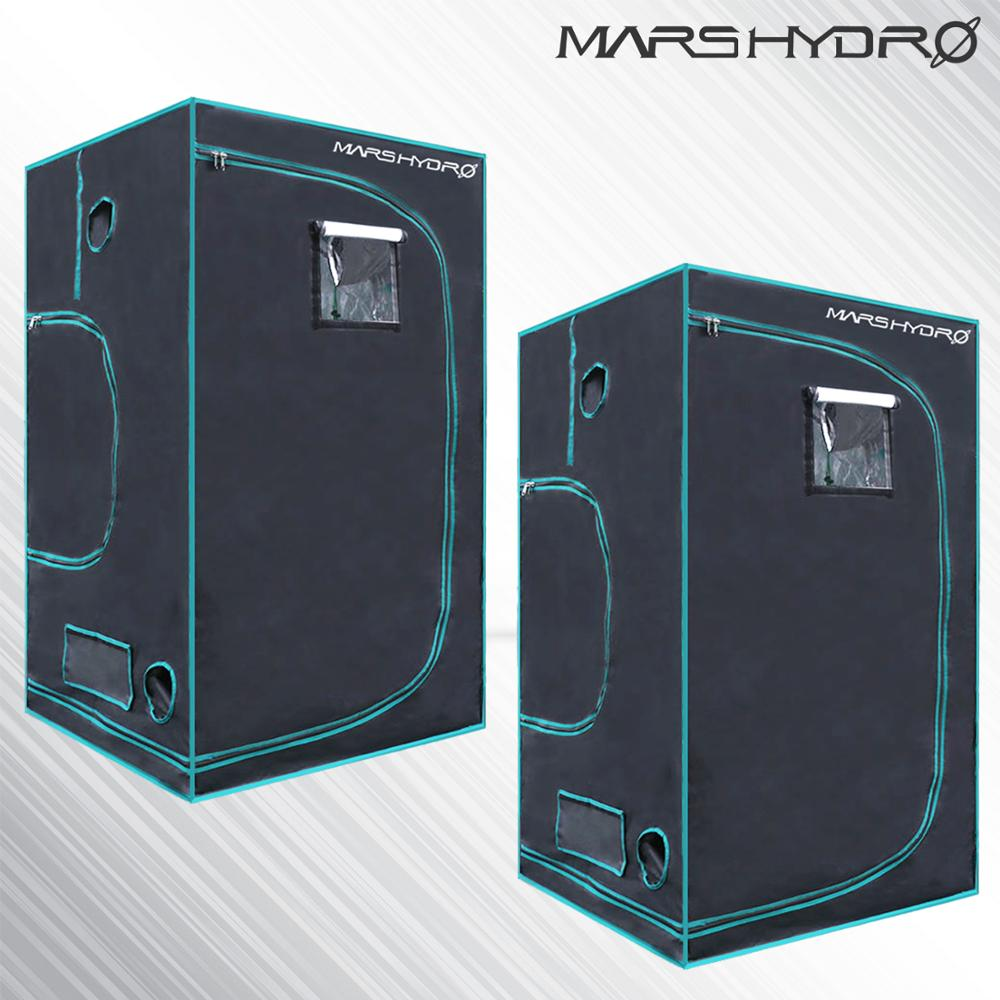 2PCS 1680D Marshydro Indoor Hydroponics Grow Tent 100*100*180cm ,Grow Kit,Completely LED Indoor Growing System