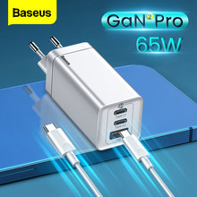 Baseus 65W GaN USB Type C Charger Quick Charge QC PD 4.0 3.0 PD Fast Charging Wall Charger for iPhone 12 Pro Max Xiaomi Macbook