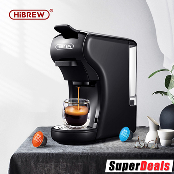 HiBREW 19 Bar 3 in 1 & 4 in 1  Multiple  Capsule Espresso Coffee Machine, Pod  Coffee Maker Dolce gusto  Nespresso  Powder  H1 1