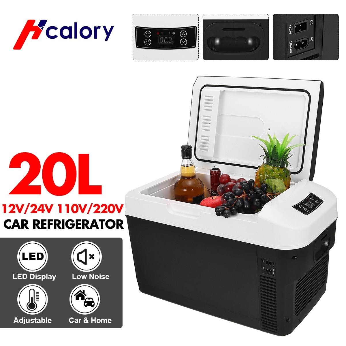 20 л автомобильный домашний автомобильный холодильник, мини-холодильники, 12/24 В постоянного тока, охлаждающий нагреватель, сохраняющий свежесть для автомобиля, дома, пиник, кемпинг, 220 В переменного тока 1