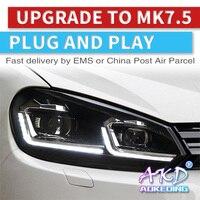 AKD Car Headlights 2009 2013 For VW Golf 6 MK6 Headlight Year Headlamp For Golf6 R20 angel Eye Style Bi Xenon Lens HID High Low