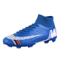 Men Football Shoes Soccer Cleats Boots Long Spikes TF Spikes Sneakers Soft Indoor Turf Futsal Soccer Shoes Men Zapatos De Futbol