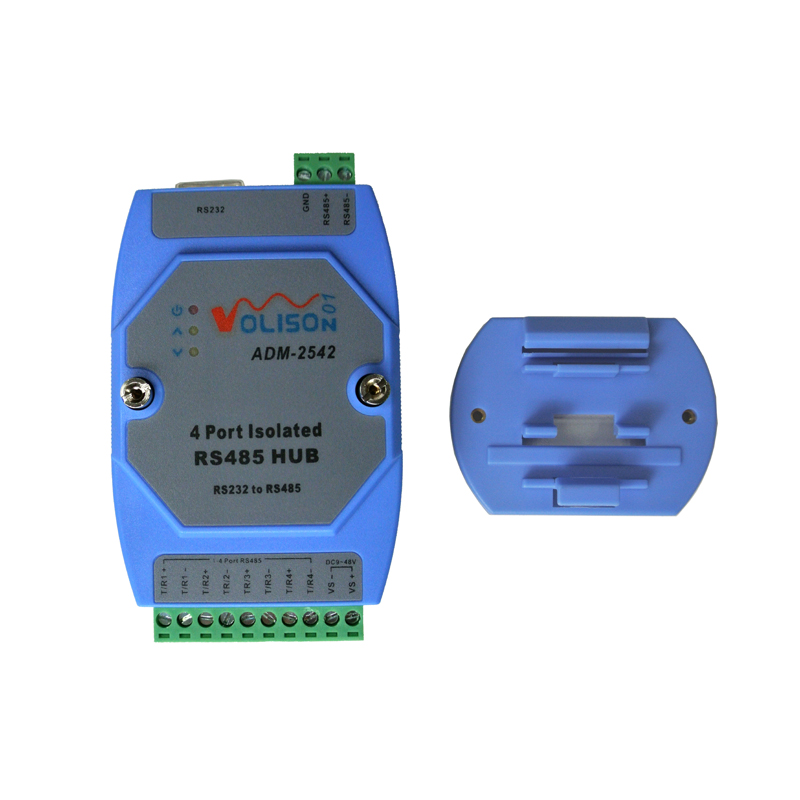 Four Way Isolation, 485 Hub, 4 Port, RS485 Distributor, 1 Point 4 Shared Device, Relay Support RS232
