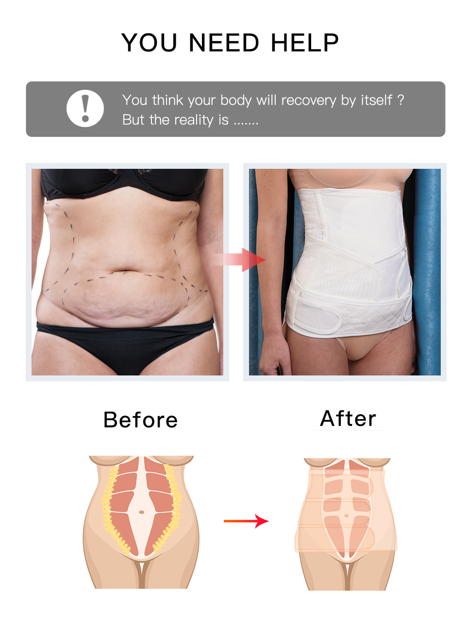 3 in 1 postpartum belly/waist/pelvis shapewear