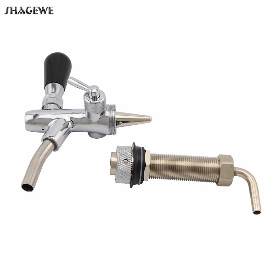 Adjustable Beer Tap Faucet With Chrome Plating Flow Control Beer Faucet Homebrew Keg Draft Beer Dispenser Tap (5)