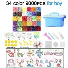 Miçangas mágicas de água, faça você mesmo, brinquedos para crianças, moldes de animais, quebra-cabeça manual, brinquedos educativos, meninos, meninas, inclinação de contas