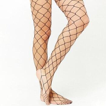 Sexy Womens Fishnet Tights Seamless Mesh Pantyhose 2017 Summer Ladies Nylon Stockings Tights Footless Fish Net Tights Collant mesh panel tights