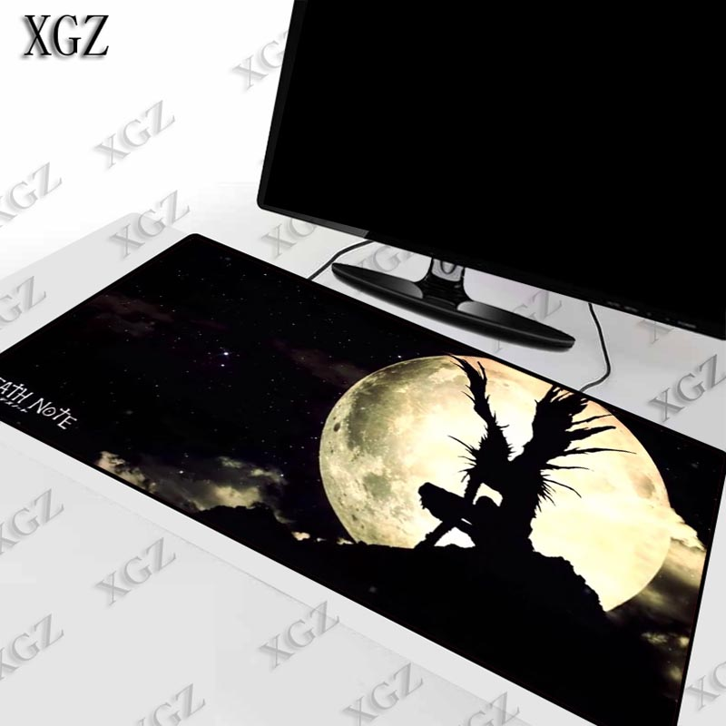 XGZ Death Note Anime Large Gaming Mouse Pad Gamer Computer Big Mat Lock Edge Speed pad Keyboard Desk For CSGO LOL
