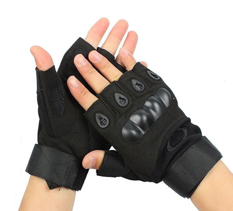 O Blackhawk Tactical Half-finger Gloves Anti-slip Fighting Microfiber Wearable Outdoor Sports Riding Really Chao Jian Skill