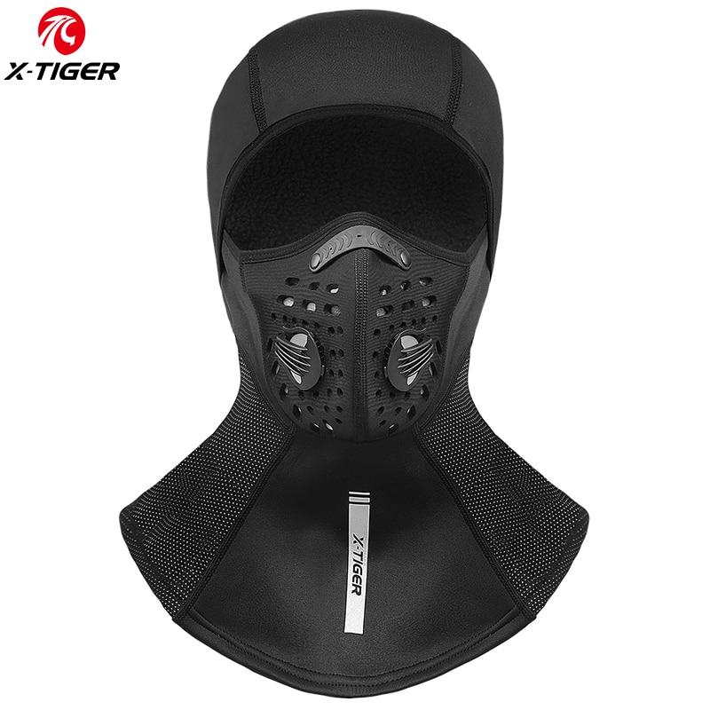 Зимняя велосипедная шапка X TIGER, флисовая термозащитная полностью закрывающая лицо ветрозащитная Пылезащитная велосипедная маска, Балаклава, лыжная шапка для катания на коньках|Маска для велоспорта| | АлиЭкспресс