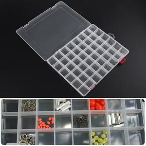 48-Compartment Plastic Storage Box Transparent PP Fishing Lure Container Fishing Tackle Comestic Makeup Organizer