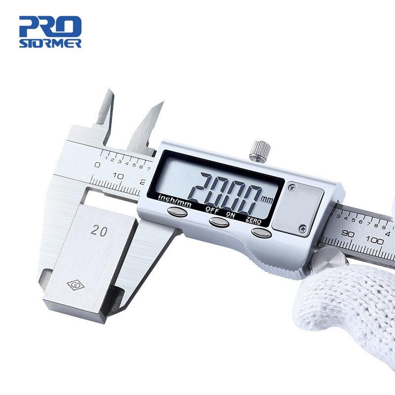 Штангенциркуль PROSTORMER цифровой из нержавеющей стали, 0 150 мм, 6 дюймов|Штангенциркули| | АлиЭкспресс