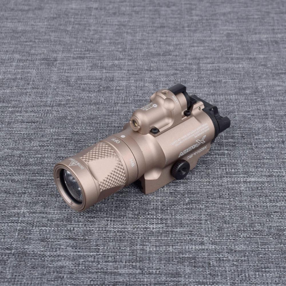 x400v tatico arma luz com laser vermelho 04