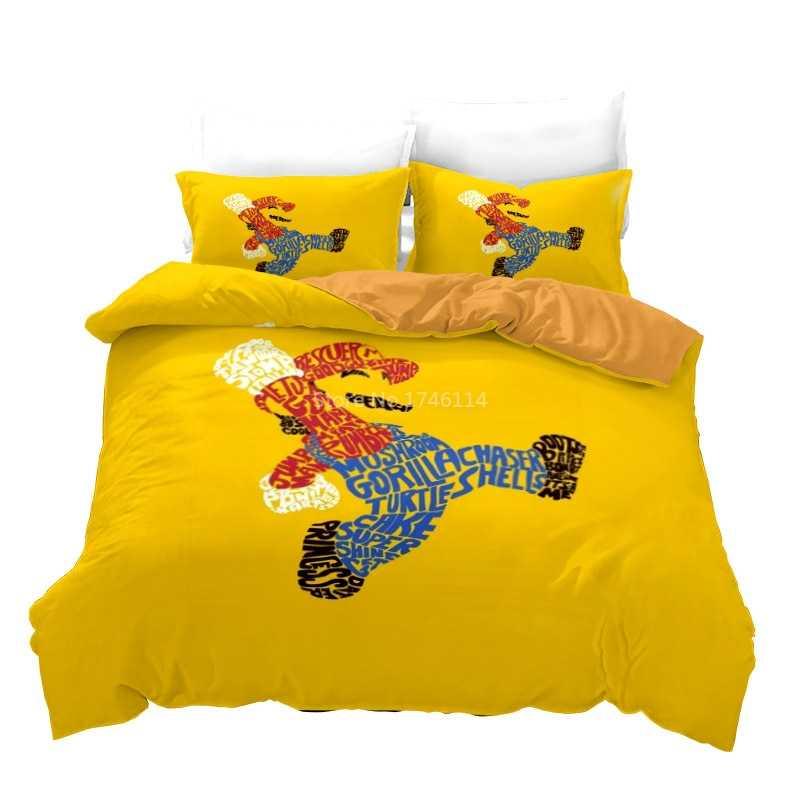 Roblox Single Bedding Cartoon Queen King Size Bedding Set Fashion Mario 3d Printed Duvet Cover Comforter Cover Set Comfortable Bed Linens Bedclothes Bedding Sets Aliexpress