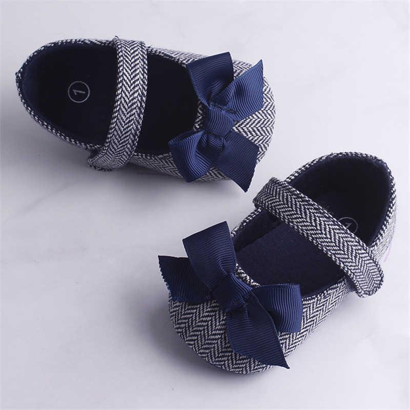 Emmababy bebek bebek kız ayakkabı ilmek kaymaz yumuşak taban kanca ilk yürüyüşe Toddler bebek bebek kız çocuk ayakkabı 0-18M 3 renk