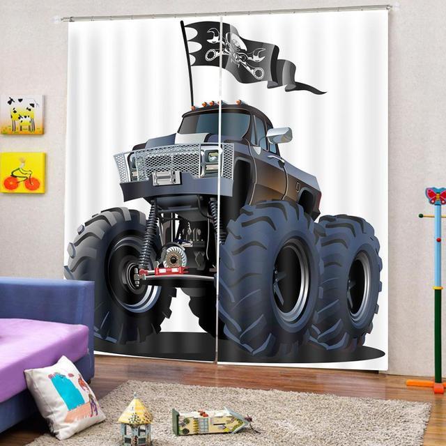 Rideau de douche décoration voitures | Grande Suspension populaire de monstre avec drapeau de Pirate crâne mort, rideaux de route disponibles
