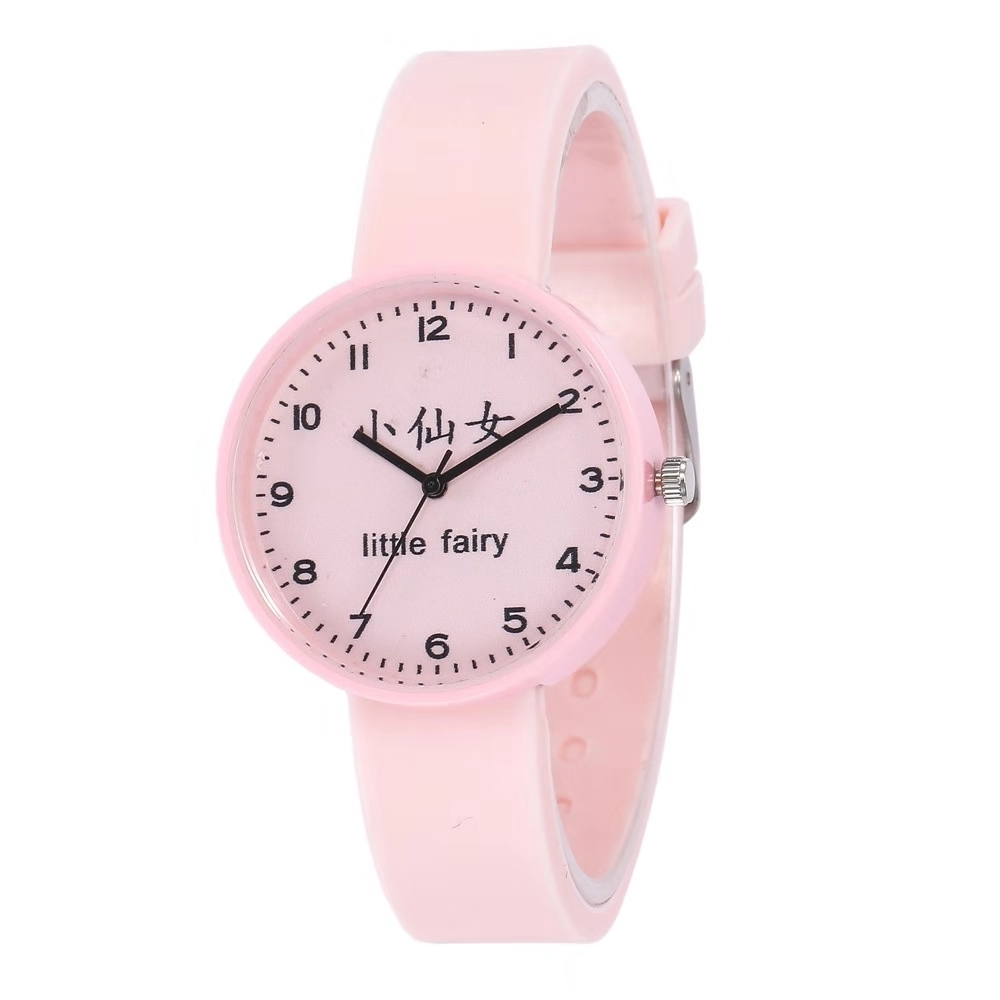 Hot Style Little Fairy Dial Girl Student Silica Gel Watch Cute Children Cartoon Quartz Watch