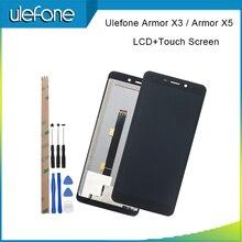 ل Ulefone درع X3 شاشة الكريستال السائل و مجموعة المحولات الرقمية لشاشة تعمل بلمس استبدال 5.5 ل Ulefone درع X5 مع أدوات + لاصق