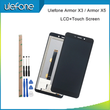 Ulefone armor x3 lcd 디스플레이 및 터치 스크린 디지타이저 어셈블리 교체 용 5.5 ulefone armor x5 용 도구 + 접착제
