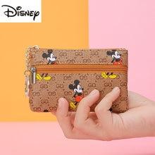 Disney – porte-monnaie Mickey pour femmes, nouveau, mignon, Mini porte-clé, Version coréenne, pour étudiants, mignon, dessin animé, pochette