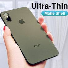 Funda Original ultrafina de 0,26mm para iphone X XR XS funda completa máxima para iphone 6 6s 7 8 PLus funda delgada mate a prueba de golpes(China)