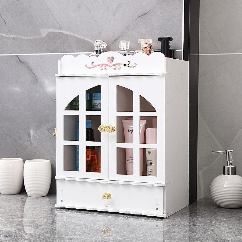 Alta qualidade à prova d' água mesa de Vestir caixa de armazenamento de madeira caixa de armazenamento de cosméticos gaveta caixa de armazenamento caixa de armazenamento do banheiro prateleira