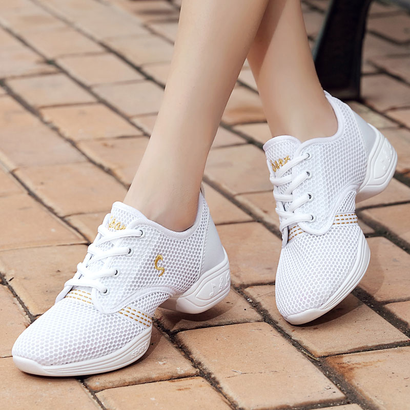 MWY Women's Dancing Shoes Soft Outsole Breath Latin Dance Shoes Jazz Shoes Sports Feature Dance Sneakers Zapatillas Mujer