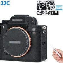 JJC kamera vücut Sticker koruyucu cilt filmi kiti Sony a7RIV a7R IV A7R4 cilt kamera aksesuarları koruma gölge siyah