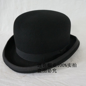 Image 2 - The phantom lr amir khan in the original single Wool Bowler Hat luxury felt billycock hats for men with belt rolled brim