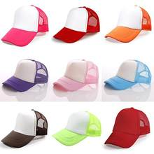Fashion Unisex Sun visor light board net hat truck hat advertising cap Trucker Cap Baseball Golf Mesh Adjustable Hats(China)