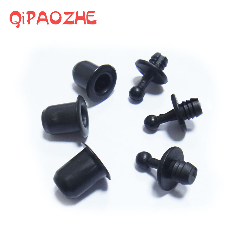 10 Pairs Speaker Grill Peg Ball and Socket Fastener Type Kit Plastic Screws