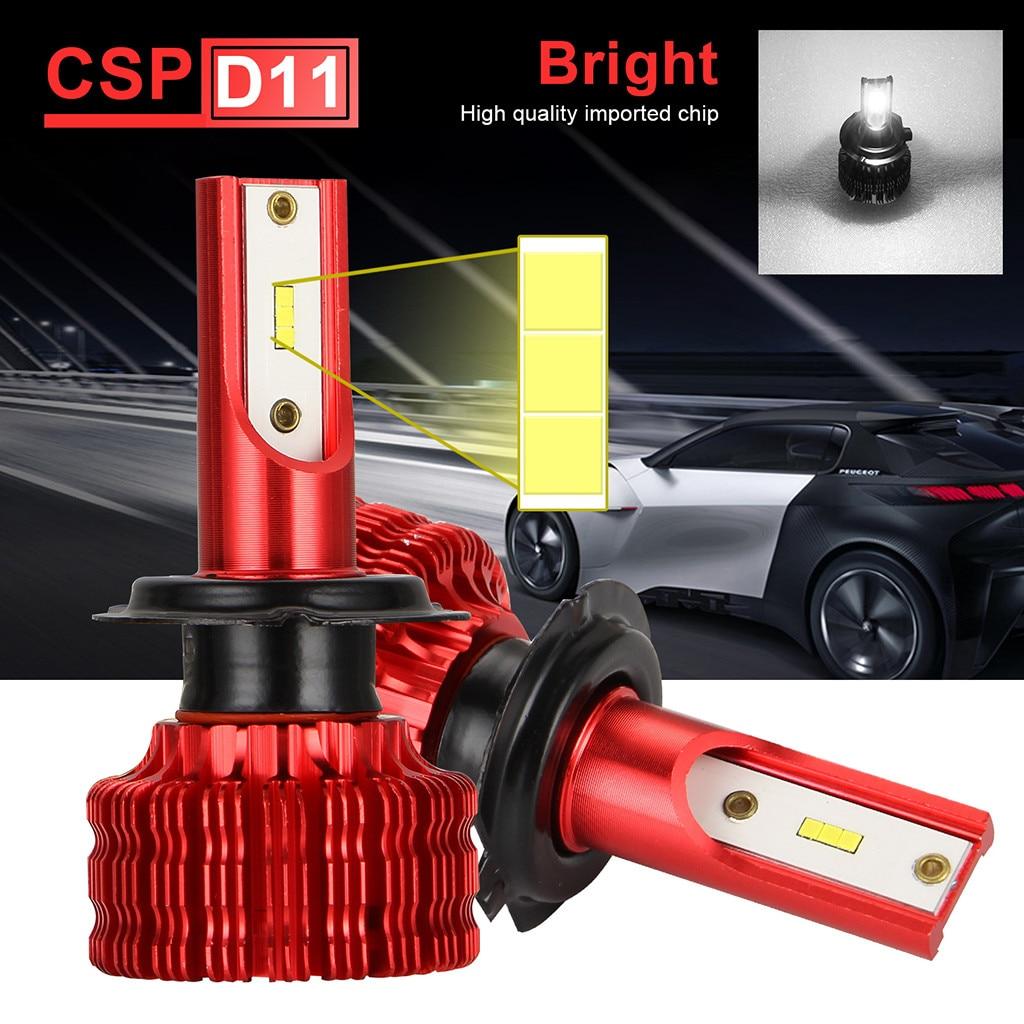 2Pcs H7 50W 10000LM Car LED Headlight Bulbs Conversion Kit 6500k with Canbus